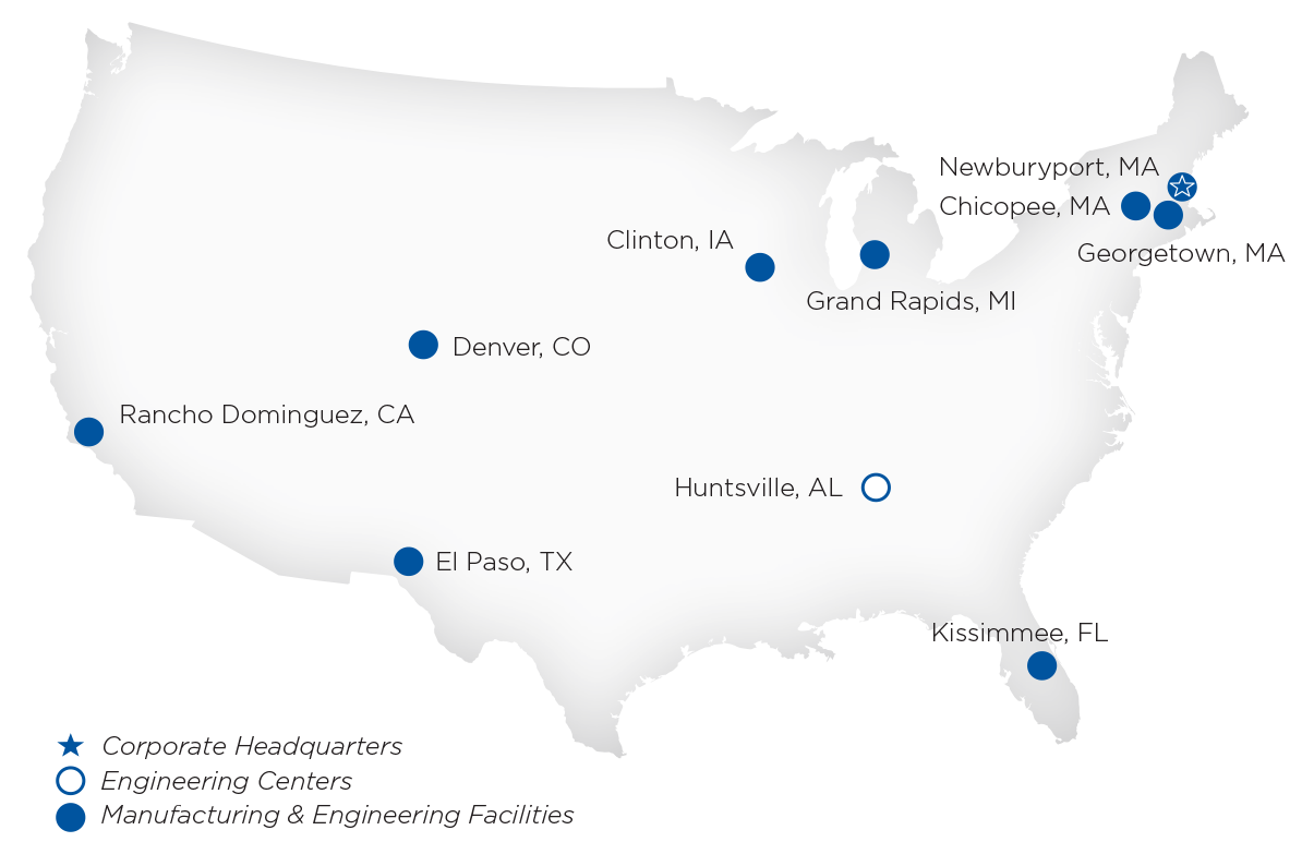 UFP Technologies Locations Map