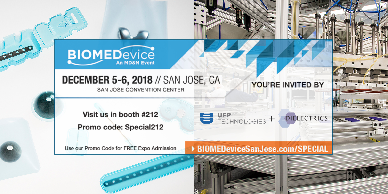 UFP Technologies exhibiting at BIOMEDevice San Jose