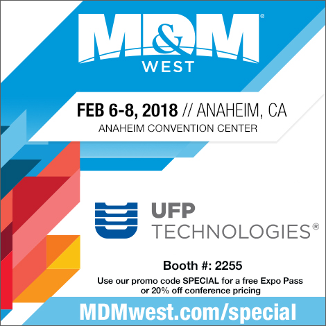 UFP Exhibiting at MDM West 2018 Free Admission
