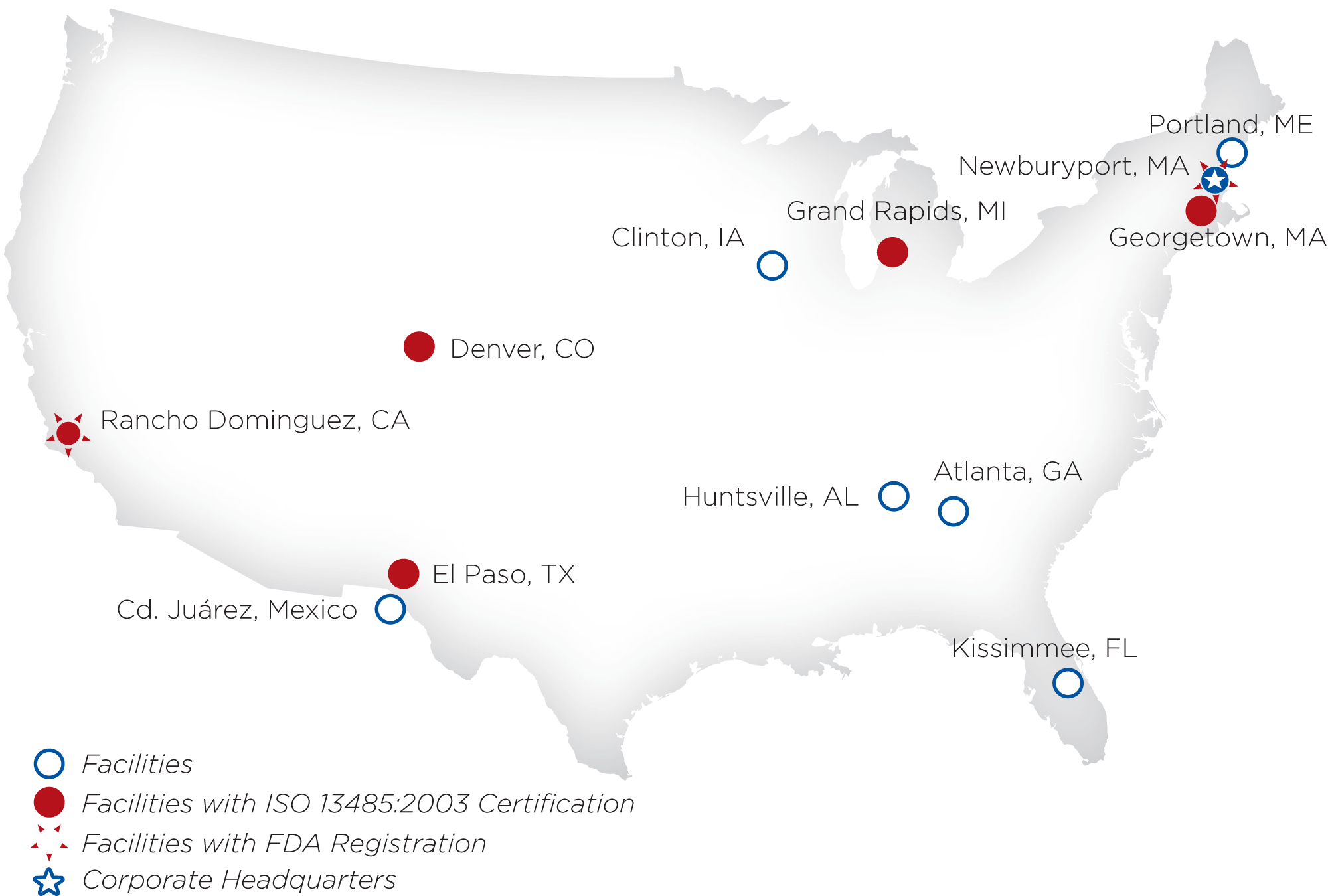 Medical Manufacturing Locations Ufp Technologies