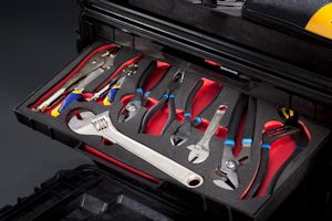 Tool control foam drawer liner and organization by UFP Technologies